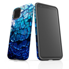 Google Pixel 5/4a 5G,4a,4 XL,4/3XL,3 Case, Tough Protective Back Cover, Blue Mirror | iCoverLover Australia