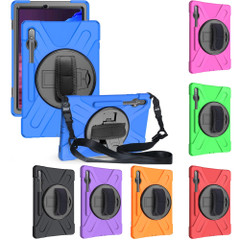 Samsung Galaxy Tab S7+ Plus (2020) Case, Silicone + PC Protective Armour Cover, Stand, Shoulder Strap, Hand Strap   icoverlover.com.au   Tablet Cases