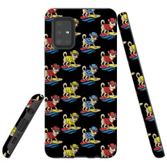 Samsung Galaxy A51 5G/4G, A71 5G/4G, A90 5G Case Tough Protective Cover Cool Dogs Surfing