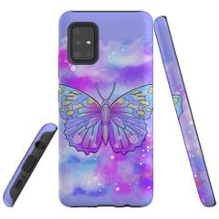 Samsung Galaxy A51 5G/4G, A71 5G/4G, A90 5G Case Tough Protective Cover Butterfly Enchanted