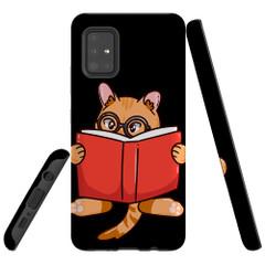 Samsung Galaxy A51 5G/4G, A71 5G/4G, A90 5G Case Tough Protective Cover Cat Reading