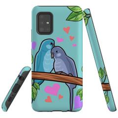 Samsung Galaxy A51 5G/4G, A71 5G/4G, A90 5G Case Tough Protective Cover Birds In Love