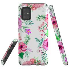 Samsung Galaxy A51 5G/4G, A71 5G/4G, A90 5G Case Tough Protective Cover Floral Garden