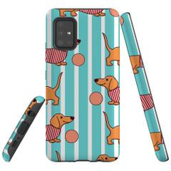 Samsung Galaxy A51 5G/4G, A71 5G/4G, A90 5G Case Tough Protective Cover Dachshund Cute
