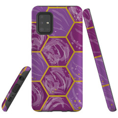 Samsung Galaxy A51 5G/4G, A71 5G/4G, A90 5G Case Tough Protective Cover Hex Comb Pattern
