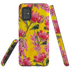 Samsung Galaxy A51 5G/4G, A71 5G/4G, A90 5G Case Tough Protective Cover Flower Pattern