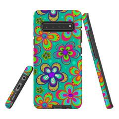 Protective Samsung Galaxy S Series Case, Tough Back Cover, Retro Floral | iCoverLover Australia