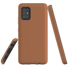 Samsung Galaxy A51 5G/4G, A71 5G/4G or A90 5G Case, Tough Protective Cover, Brown | iCoverLover Australia