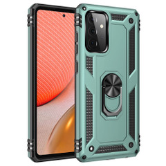 For Samsung Galaxy A72 4G/5G Case, Armour Shockproof TPU/PC Cover, Ring Holder, Green | iCoverLover.com.au | Samsung Galaxy A Cases