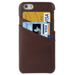 iPhone 6S & 6 Case Brown Genuine Leather Cover with Card Slots | Leather iPhone Cases | Leather iPhone 6 & 6S Covers