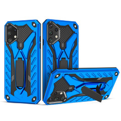 Samsung Galaxy A72 4G/5G, A52 4G/5G, A32 5G Case Armour Shockproof Tough Cover Kickstand, Blue