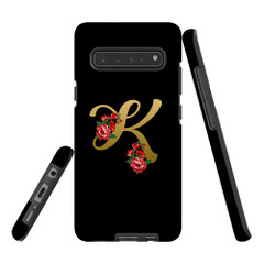 For Samsung Galaxy S21 Ultra/S21+ Plus/S21,S20 Ultra/S20+/S20,S10 5G, S10+/S10/S10e, S9+/S9 Case, Tough Protective Back Cover, Embellished Letter K | Protective Cases | iCoverLover.com.au