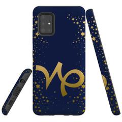 For Samsung Galaxy A51 5G/4G, A71 5G/4G, A90 5G Case, Tough Protective Back Cover, Capricorn Sign | Protective Cases | iCoverLover.com.au