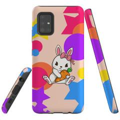 For Samsung Galaxy A51 5G/4G, A71 5G/4G, A90 5G Case, Tough Protective Back Cover, Cute Bunny | Protective Cases | iCoverLover.com.au