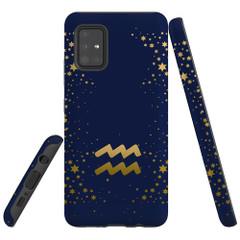 For Samsung Galaxy A51 5G/4G, A71 5G/4G, A90 5G Case, Tough Protective Back Cover, Aquarius Sign | Protective Cases | iCoverLover.com.au