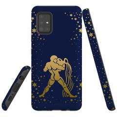 For Samsung Galaxy A51 5G/4G, A71 5G/4G, A90 5G Case, Tough Protective Back Cover, Aquarius Drawing | Protective Cases | iCoverLover.com.au