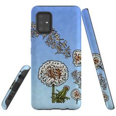 For Samsung Galaxy A51 5G/4G, A71 5G/4G, A90 5G Case, Tough Protective Back Cover, Dandelion Sky | Protective Cases | iCoverLover.com.au
