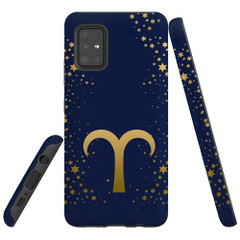 For Samsung Galaxy A51 5G/4G, A71 5G/4G, A90 5G Case, Tough Protective Back Cover, Aries Sign | Protective Cases | iCoverLover.com.au