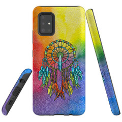 For Samsung Galaxy A51 5G/4G, A71 5G/4G, A90 5G Case, Tough Protective Back Cover, Colourful Dreamcatcher | Protective Cases | iCoverLover.com.au
