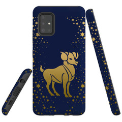 For Samsung Galaxy A51 5G/4G, A71 5G/4G, A90 5G Case, Tough Protective Back Cover, Aries Drawing | Protective Cases | iCoverLover.com.au