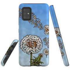 For Samsung Galaxy A51 5G/4G, A71 5G/4G, A90 5G Case, Tough Protective Back Cover, Dandelion Blue Sky | Protective Cases | iCoverLover.com.au
