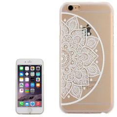 White Half Mandala Clear iPhone 6 Plus & 6S Plus Case   Fashion iPhone 6 PLUS & 6S PLUS Cases   Fashion iPhone 6 PLUS & 6S PLUS Covers   iCoverLover