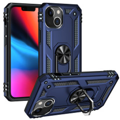 For iPhone 13 Pro Max, 13, 13 Pro, 13 mini Case, Protective Shockproof TPU/PC Cover, Ring Holder, Blue | Armour Cases | iCoverLover.com.au