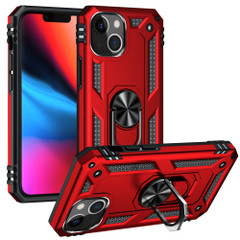For iPhone 13 Pro Max, 13, 13 Pro, 13 mini Case, Protective Shockproof TPU/PC Cover, Ring Holder, Red | Armour Cases | iCoverLover.com.au