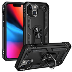 For iPhone 13 Pro Max, 13, 13 Pro, 13 mini Case, Protective Shockproof TPU/PC Cover, Ring Holder, Black   Armour Cases   iCoverLover.com.au