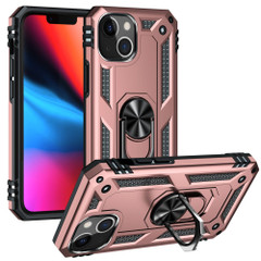 For iPhone 13 Pro Max, 13, 13 Pro, 13 mini Case, Protective Shockproof TPU/PC Cover, Ring Holder, Rose Gold | Armour Cases | iCoverLover.com.au