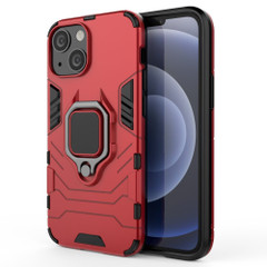 For iPhone 13 Pro Max, 13, 13 Pro, 13 mini Case, Shockproof PC/TPU Protective Cover with Magnetic Ring Holder, Red | Plastic Cases | iCoverLover.com.au