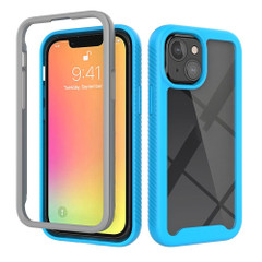 For iPhone 13 Pro Max, 13 Pro, 13 mini Case, Starry Sky Solid Colour Series, Protective Cover, Light Blue | Plastic Cases | iCoverLover.com.au