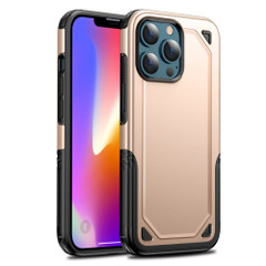 For iPhone 13 Pro Max, 13, 13 Pro, 13 mini Case, Armour Shockproof Rugged Protective Cover, Gold | Plastic Cases | iCoverLover.com.au