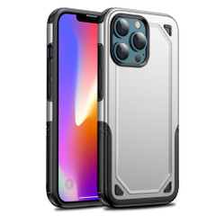 For iPhone 13 Pro Max, 13, 13 Pro, 13 mini Case, Armour Shockproof Rugged Protective Cover, Silver | Plastic Cases | iCoverLover.com.au