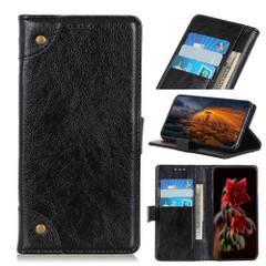 For iPhone 13 Pro Max, 13, 13 Pro, 13 mini Case, Retro PU Leather Wallet Cover, Copper Accents, Black   PU Leather Cases   iCoverLover.com.au