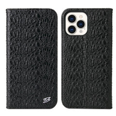 iPhone 13 Pro Max, 13, 13 Pro, 13 mini Case, Fierre Shann Crocodile Pattern Leather Wallet Cover, Black   iCoverLover Australia