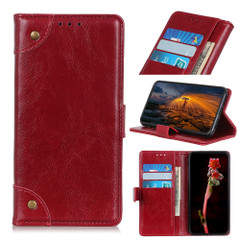 For iPhone 13 Pro Max, 13, 13 Pro, 13 mini Case, Retro PU Leather Wallet Cover, Copper Accents, Wine Red   PU Leather Cases   iCoverLover.com.au