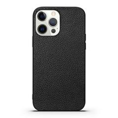 iPhone 13 Pro Max, 13, 13 Pro, 13 mini Case, Genuine Leather Slim Back Cover, Black | iCoverLover Australia