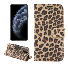 For iPhone 13 Pro Max, 13, 13 Pro, 13 mini Case, Leopard Print Wallet Cover, Yellow | PU Leather Cases | iCoverLover.com.au