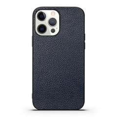 iPhone 13 Pro Max, 13, 13 Pro, 13 mini Case, Genuine Leather Slim Back Cover, Blue | iCoverLover Australia
