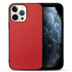 iPhone 13 Pro Max, 13, 13 Pro, 13 mini Case, Genuine Leather Slim Back Cover, Red | iCoverLover Australia