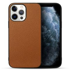 iPhone 13 Pro Max, 13, 13 Pro, 13 mini Case, Genuine Leather Slim Back Cover, Brown   iCoverLover Australia