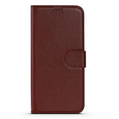 iPhone 13 Pro Max, 13, 13 Pro, 13 mini Case, Genuine Cowhide Leather Wallet Cover, Stand, Wine Red   iCoverLover Australia
