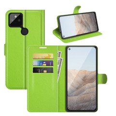 Case for Google Pixel 5a 5G or 4a, PU Leather Folio Protective Wallet Cover with Stand in Green| iCoverLover Australia