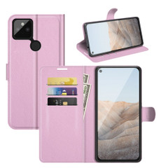 Case for Google Pixel 5a 5G or 4a, PU Leather Folio Protective Wallet Cover with Stand in Pink| iCoverLover Australia