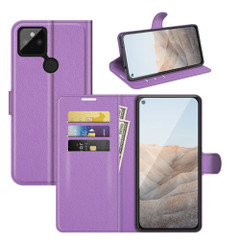 Case for Google Pixel 5a 5G or 4a, PU Leather Folio Protective Wallet Cover with Stand in Purple| iCoverLover Australia