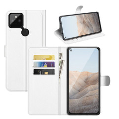 Case for Google Pixel 5a 5G, PU Leather Folio Protective Wallet Cover with Stand in White| iCoverLover Australia