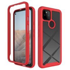 For Google Pixel 5/5a 5G/4a 5G/4a Case, Protective Clear-Back Cover in Red | iCoverLover Australia