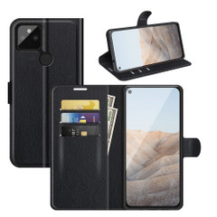 Case for Google Pixel 5a 5G or 4a, PU Leather Folio Protective Wallet Cover with Stand in Black| iCoverLover Australia