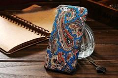 Blue Orange Paisley Fabric iPhone 6 Plus & 6S Plus Case | Designer iPhone Case 6 Plus & 6S Plus | iPhone Covers | iCoverLover
